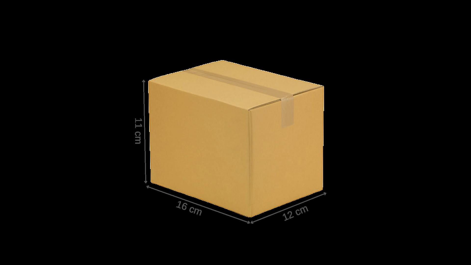 Carton simple cannelure 16x12x11 cm