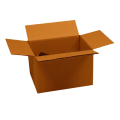 Carton simple cannelure 18 x 13 x 12 cm