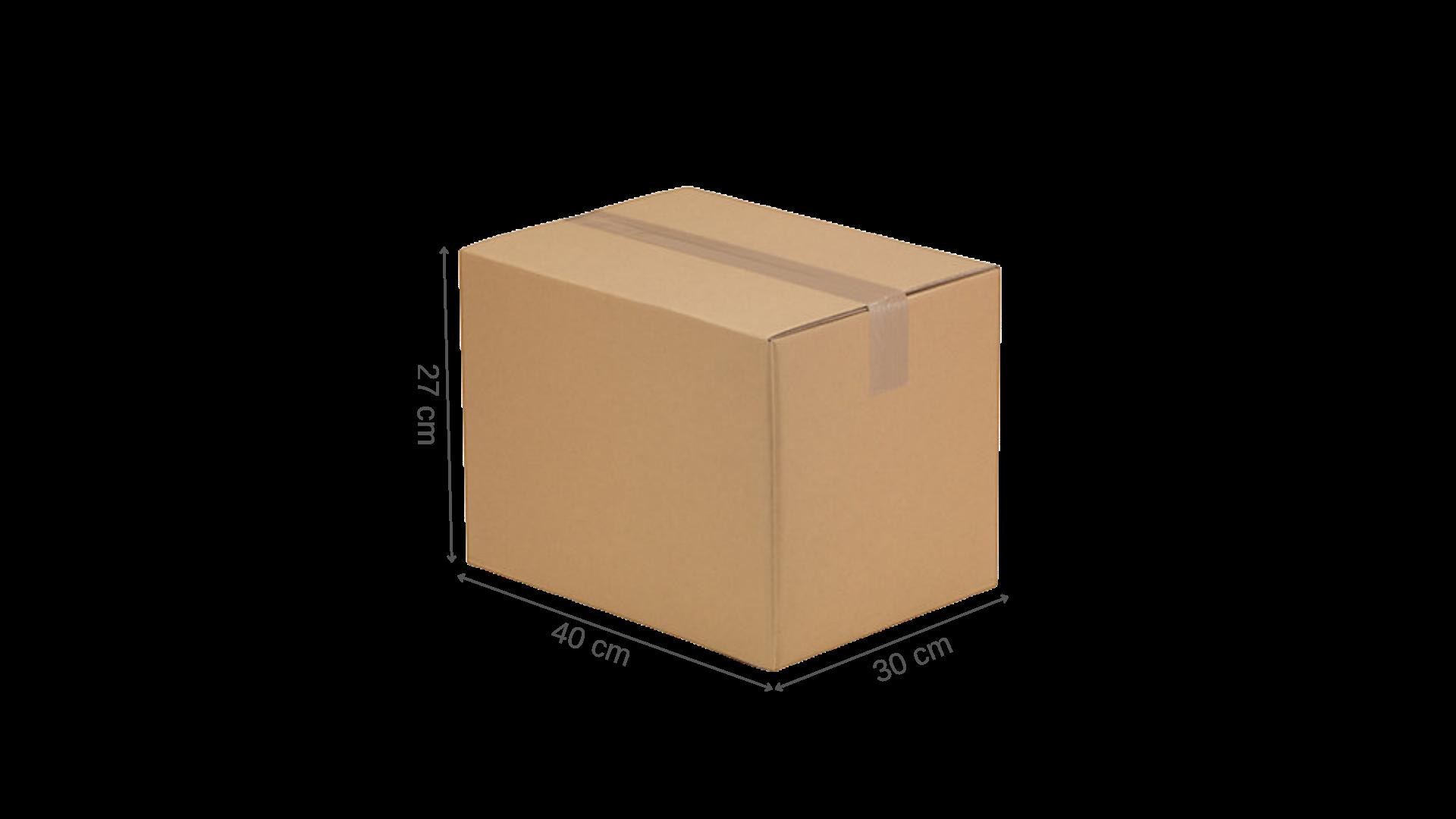 Carton simple cannelure 40x30x27 dimensions